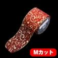 スターファンタジー レッド/ゴールド 巾10cm Mカット