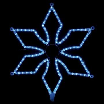 スタイリッシュスノーフレーク ブルー
