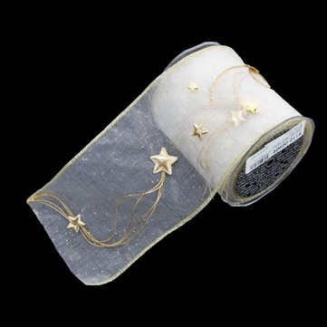 スターチェーン アイボリー 巾12.5cm 5M巻