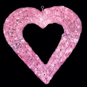 プレーングローハート ピンク