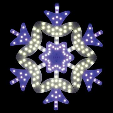 SMDスノーフラワー ホワイトブルー