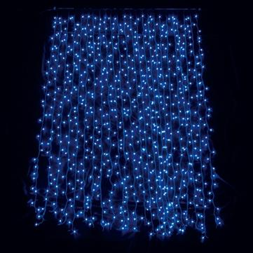 スパークルカーテン720球 ブルー