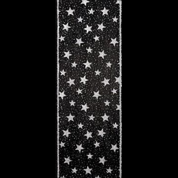 ラメスター ブラック 巾15cm 9M巻