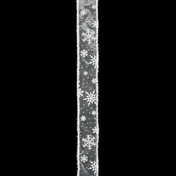 スノーフレーク ホワイト/ホワイト 巾5cm 9M巻