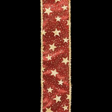 ラメスター レッド 巾7.5cm 18M巻