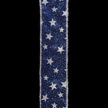 ラメスター ブルー 巾7.5cm 18M巻
