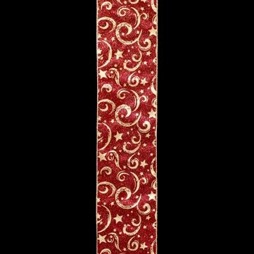 スターファンタジー レッド/ゴールド 巾10cm 18M巻