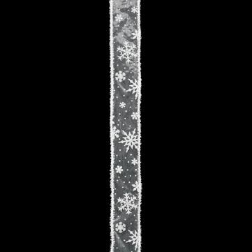 スノーフレーク ホワイト/ホワイト 巾5cm 18M巻