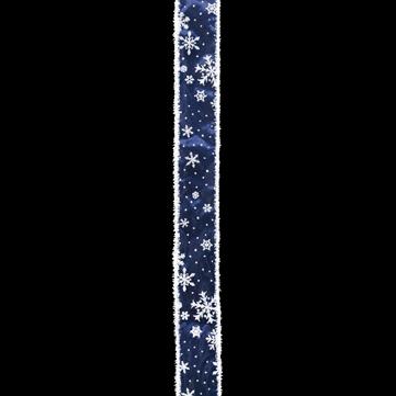 スノーフレーク ブルー/ホワイト 巾5cm 18M巻