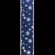 スノーフレーク ブルー/ホワイト 巾10cm 18M巻