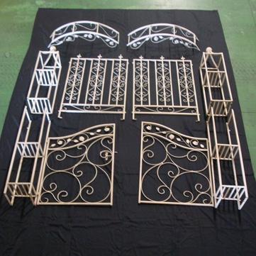 ガーデンオブジェ016(アーチ1台、フェンス2台入り)