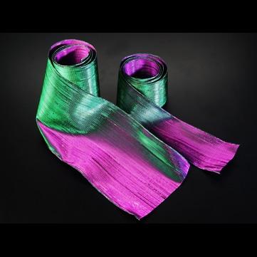 オーロラ グリーン/パープル 巾7.5cm 18M巻